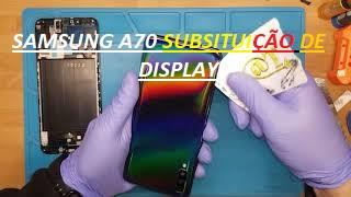 Samsung A70 troca de display - tutorial reparação mobile