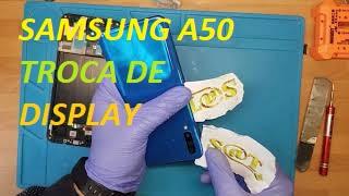 Trocar ecrã de Samsung A50, trocar tela ou display