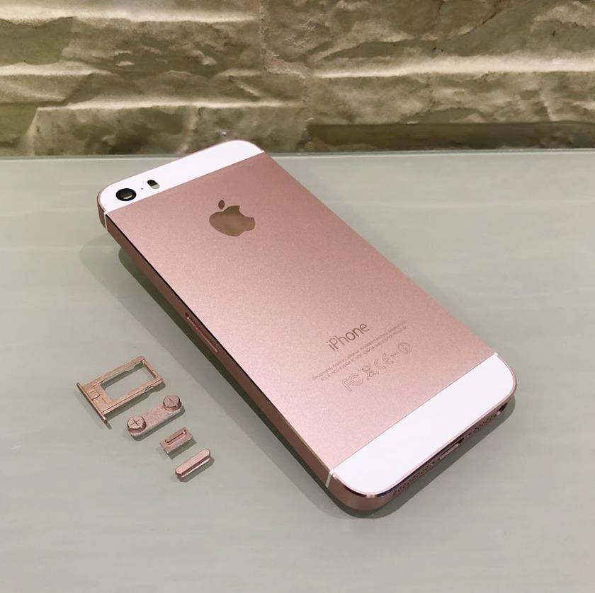 Carcaça Ou Chassis Iphone 5 Rose Gold Sem Componentes Com Logo