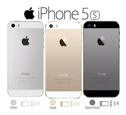 Carcaça Ou Chassis Iphone 5s Branco Sem Componentes Com Logo